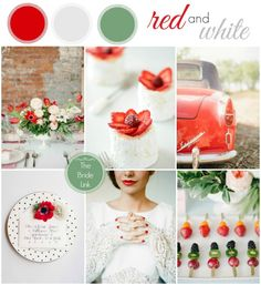 Red and white wedding ideas.