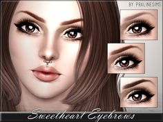 Sweetheart Eyebrows by Pralinesims - Sims 3 Downloads CC Caboodle