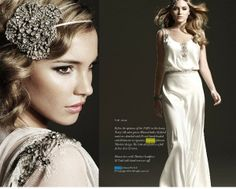Vintage wedding dress by Johanna Johnson, Art Deco inspired, Art Deco Bridesmaid Dresses, Art Deco Bridesmaids, Art Deco Wedding Dress, White Wedding Dresses, 1930s Wedding, Vogue Wedding, Vintage Weddings, Johanna Johnson, Blouson Vintage