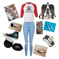 """""""Supernatural Convention"""" by caspar-lee-is-bae-1999 on Polyvore featuring New Look, Converse, Shany and Lime Crime"""
