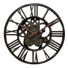 i pinned this ashton sutton gear wall clock from the style study industrial revolution event