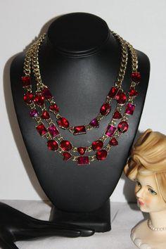 Anne Klein, Glass Gemstone, Daughter Love, Red Garnet, Red Glass, Vintage Signs, Sterling Silver Rings, Bangles, Packaging
