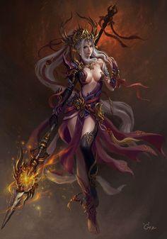 Chica Fantasy, 3d Fantasy, Fantasy Images, Fantasy Warrior, Fantasy Women, Fantasy Girl, Fantasy Artwork, Dark Fantasy, Fantasy Princess