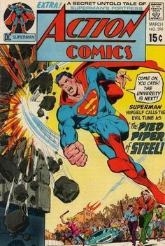 Superman's gone hippie! That is SO groovy!