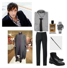 """""""Severus - Do I Wanna Know"""" by elizabeth-lamp ❤ liked on Polyvore featuring Marc Anthony, Lauren Ralph Lauren, Dsquared2, Rolex, Common Projects, men's fashion and menswear"""