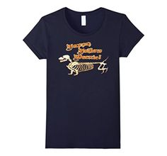 Women's Happy Halloweenie t shirt Large Navy - Brought to you by Avarsha.com
