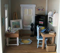 Dollhouse craft room