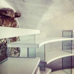 #brick #glass #wood