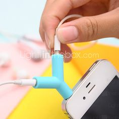 3.5mm Earphones Sharing Type Plug(Random Color) 2017 - $2.99