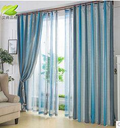 Alta calidad moderna de rayas cortinas gruesas cortinas cortinas personalizadas salón dormitorio especiales de productos