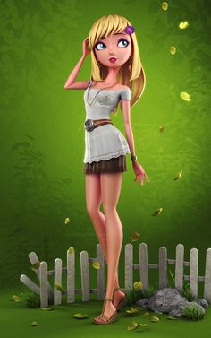 3D Pin-ups and character designs by Carlos Ortega Elizalde