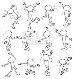 Cartoon, Mouvement, Personnage de caractère, Agiter les mains, Fête Illustration vectorielle libre de droits