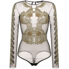 Shop online Amen sequin embellished sheer bodysuit for Discover new season items from the world's best luxury designer brands. Embellished Bodysuit, Sheer Bodysuit, Womens Bodysuit, Carnival Outfits, Pullover Shirt, Body Suit Outfits, Sheer Lingerie, Indian Outfits, Indian Clothes