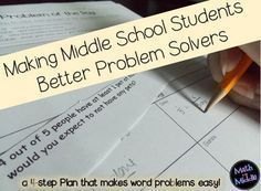 Blog Post on improving problem solving in the middle school