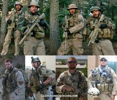 Real Navy SEAL Team 10 in Operation Red Wings. From left: Taylor Kitsch as Michael Murphy, Mark Wahlberg as the Lone Survivor Marcus Luttrell, Ben Foster as Danny Dietz and Emile Hirsch as Matthew Axelson.