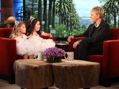 Sophia Grace and Rosie are such cute little girls.  I love to watch them in Ellen.