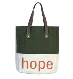 Esperos tote bag. Buy a bag and send a girl in Haiti to school for one year.