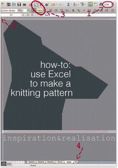 inspiration and realisation: DIY fashion blog: DIY - how to make a knitting pattern using Excel