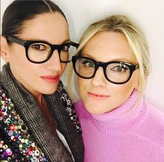 Ms Jenna Lyons and Harper Bazaar's Laura Brown in Mensch Moscot specs. I adore!