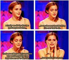 Emma Watson on Kissing Rupert Grint
