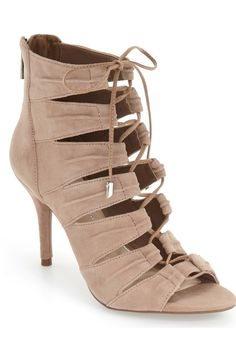 swooning over this corset inspired sandal that laces up for a sophisticated chic look
