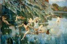 Nymphs, 1911 Ettore Tito