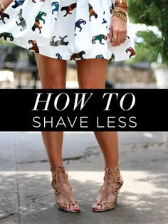 How to shave less #genius
