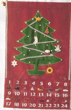 Charming advent calendar craft to help the whole family count down the days. Christmas Tree Advent Calendar, Diy Advent Calendar, Advent Calendars, Calendar Ideas, Winter Christmas, Christmas Time, Christmas Ideas, Holiday Crafts, Holiday Fun