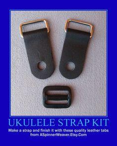 Ukulele Strap Kit  Do-It-Yourself 1 Inch Wide by ASpinnerWeaver