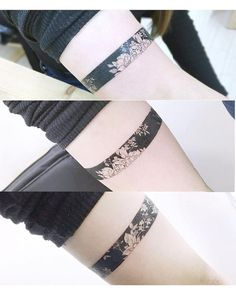 Armband Tattoo Designs for Men Floral Armband Tattoo Tattoo Artist Banul Tattoos Pretty Tattoos, Cute Tattoos, Beautiful Tattoos, Flower Tattoos, Body Art Tattoos, New Tattoos, Tatoos, Black Tattoos, Hand Tattoos