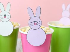 Cute bunny printable for your Easter kids table!