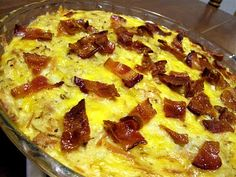 Quiche bacon pork and potato