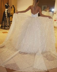 Sparkly wedding dress - Sparkly White Wedding Dresses Bridal gown from dressydances – Sparkly wedding dress Backless Wedding, Long Wedding Dresses, Princess Wedding Dresses, Bridal Dresses, Glitter Wedding Dresses, Short Dresses, White Sparkly Dress, Sparkly Wedding Gowns, Mini Dresses