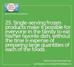 Single-serving desserts, entrees, etc. allows everyone in the family to eat what they want! You can please every palate with one stop to the freezer aisle. #MarchFrozenFoodMonth