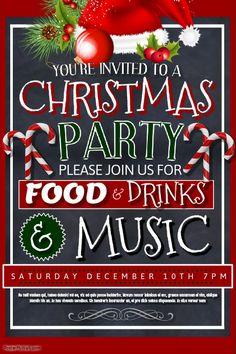 Christmas Dinner Poster Template  Christmas Poster Templates