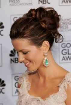 up do and earrings