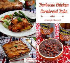 Mommy's Kitchen - Home Cooking & Family Friendly Recipes: Barbecue Chicken Cornbread Bake with Bush's NEW Sweet Heat Beans #DoneThis @Bush's Beans #casserole #dinner
