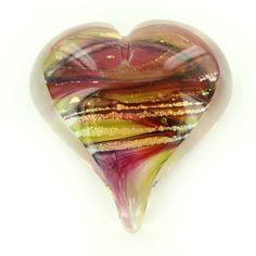 Art Glass Large Heart Paperweight