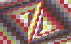 Victor Vasarely, Marsan, 1966, privé collectie Victor Vasarely, Geometric Artists, Geometric 3d, Claude Nicolas Ledoux, Bridget Riley, Platonic Solid, Occult Symbols, Georges Seurat, Illusion Art