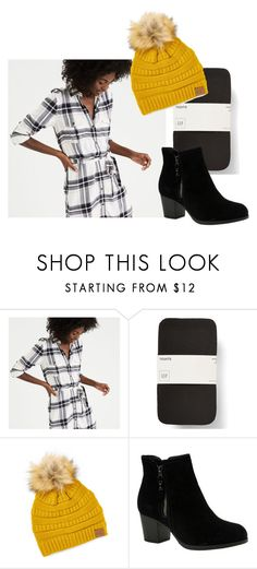 """""""Plaid Dress"""" by karinasoto39 on Polyvore featuring American Eagle Outfitters, C.C Cheveux and Skechers"""