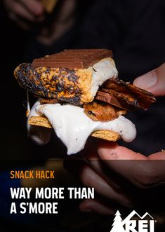 Snack hack. Up your campfire s'more game with bacon and peanut butter.
