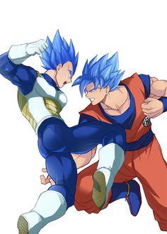 Vegeta goku super sayayin blue