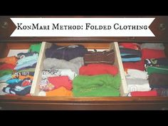 KonMari Method - Folded Clothing - DIY Drawer Dividers - YouTube