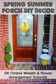 Spring Summer Porch DIY Decor   The Bajan Texan: Spring Summer Porch DIY Decor