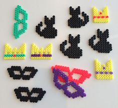 hama.pynt Pixel Beads, Fuse Beads, Pearler Beads, Hama Beads Patterns, Beading Patterns, Diy For Kids, Crafts For Kids, Tapestry Crochet Patterns, Hama Mini