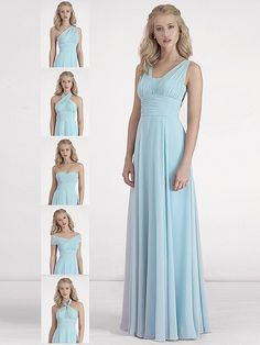 Pin to Win a Wedding Gown or 5 Bridesmaid Dresses! Simply pin your favorite dresses on www.forherandforhim.com to join the contest! | 6-way Convertible Dress $189.99