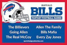 Buffalo Bills Fantasy Football Name button image Best Football Quotes, Football Team Names, Football Jokes, Cool Fantasy Football Names, Fantasy Football League, Nfc East Teams, 32 Nfl Teams, Football Positions, Colts Super Bowl
