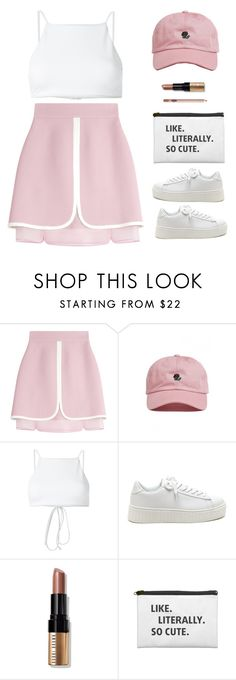 """""""Like. Literally. So cute."""" by cheerstostyle ❤ liked on Polyvore featuring Giambattista Valli, The Hundreds, Ack, Bobbi Brown Cosmetics and Charlotte Tilbury"""