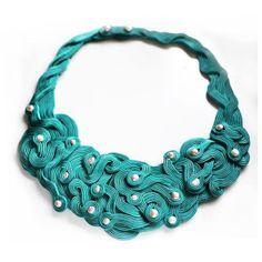 EN ORDEN Marine Soutache Collar con Perlas de Qlka Art Boutique  por DaWanda.com