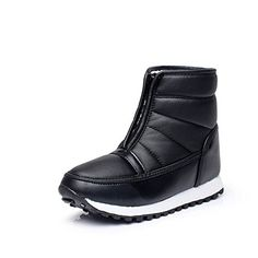 iLory Womens Mens PU Waterproof Zipper Boots Anti Slip Cold Weather Boots ** More info could be found at the image url.